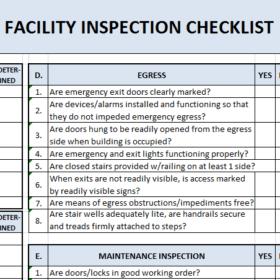 Building Maintenance Checklist Templates 7 Free Docs Xlsx Pdf